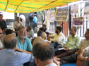 Koodankulam solidarity fast and demonstration in Kolkata