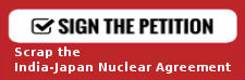 India-Japan Nuclear Agreement petition